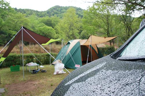 日時計の丘公園_3日目_雨のサイト.JPG